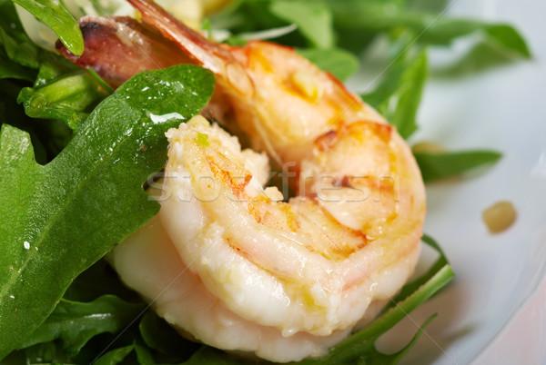 arugula salad with prawn  Stock photo © fanfo