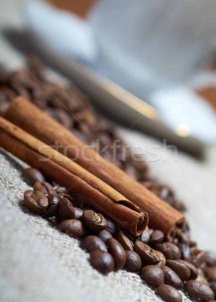 чашку кофе корицей кофе текстуры продовольствие кофе Сток-фото © fanfo