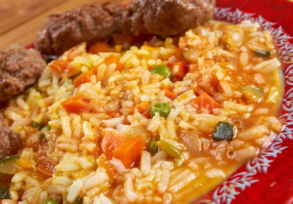 Jollof rice Stock photo © fanfo