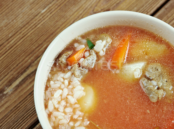 mastava soup Stock photo © fanfo