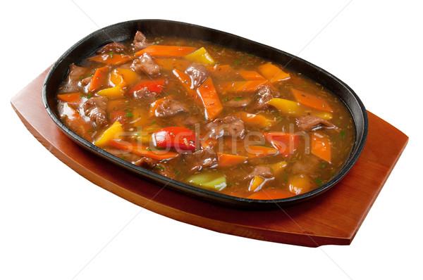 Cinese cucina montone vegetali olio cena Foto d'archivio © fanfo