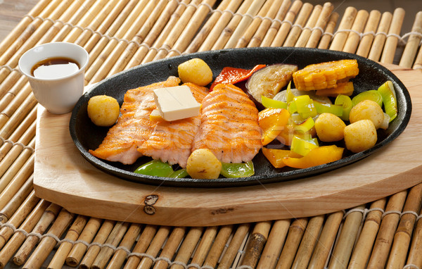 Salmon Steak with Vegetable  Stock photo © fanfo