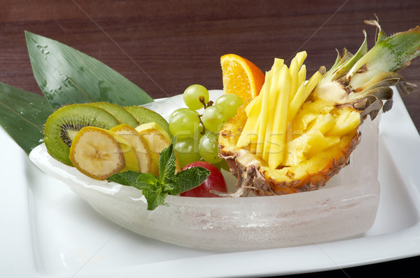 Stock photo: Salad whit tropical fruit and vegetables