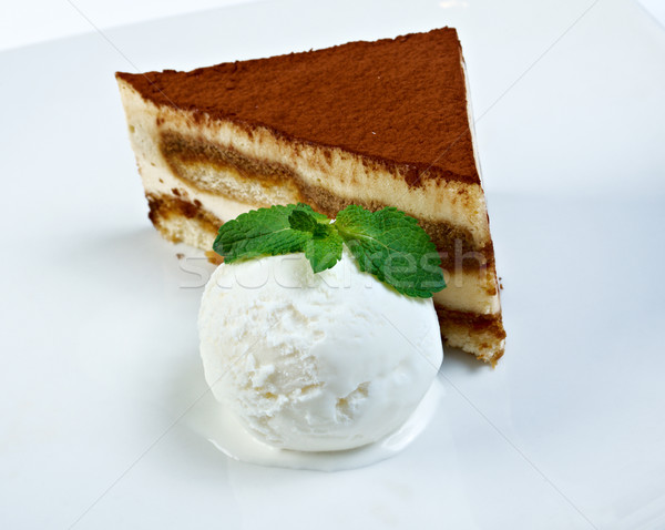 cake on a white plate Stock photo © fanfo