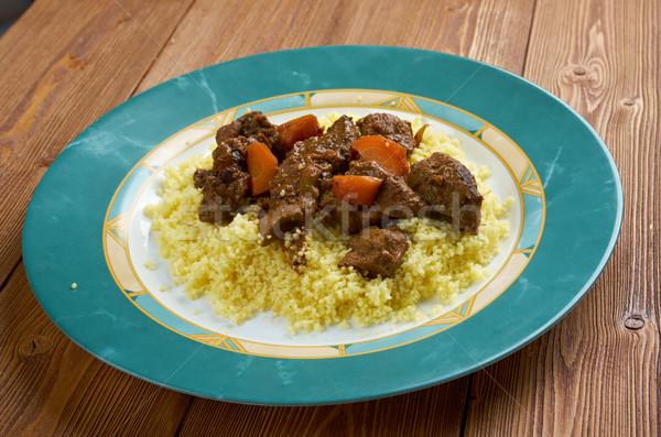 Moroccan Lamb Tagine Stock photo © fanfo
