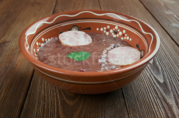 южный почка боб суп колбаса обеда Сток-фото © fanfo