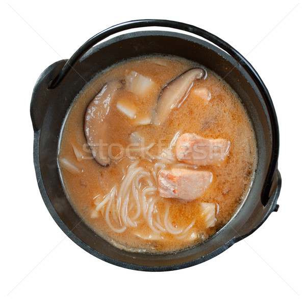 noodle soup  with salmon Stock photo © fanfo