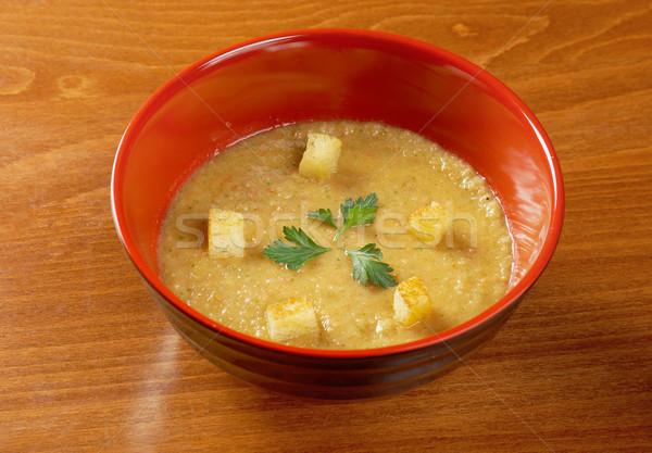 Fokhagyma nyár vacsora ebéd leves zöldség Stock fotó © fanfo