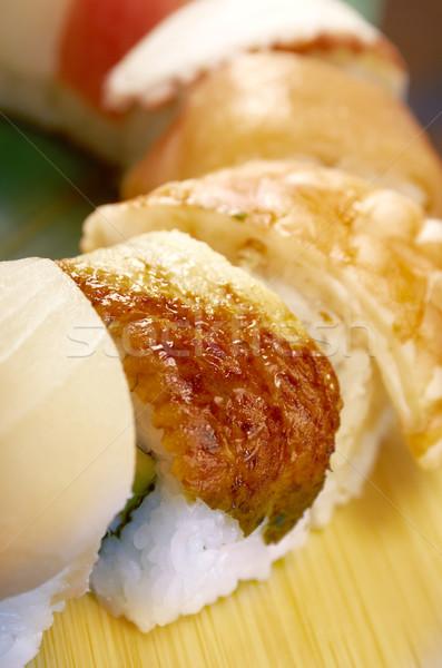 Japoński sushi tradycyjny japońskie jedzenie wędzony ryb Zdjęcia stock © fanfo