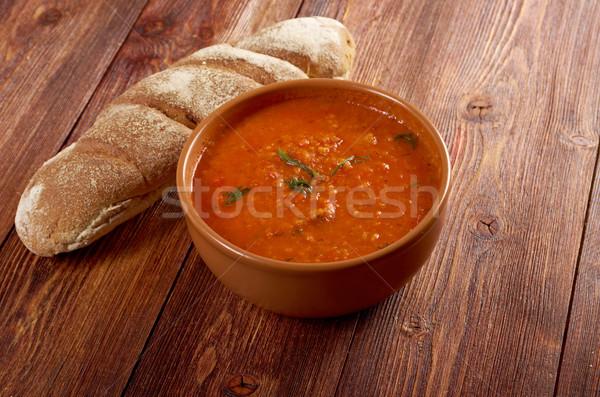 Soupe italien soupe à la tomate alimentaire tomate cuisson Photo stock © fanfo