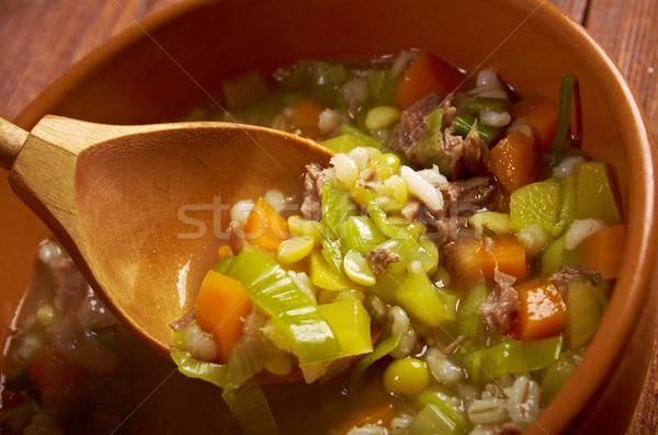 Et suyu çorba et mutfak yemek inci Stok fotoğraf © fanfo