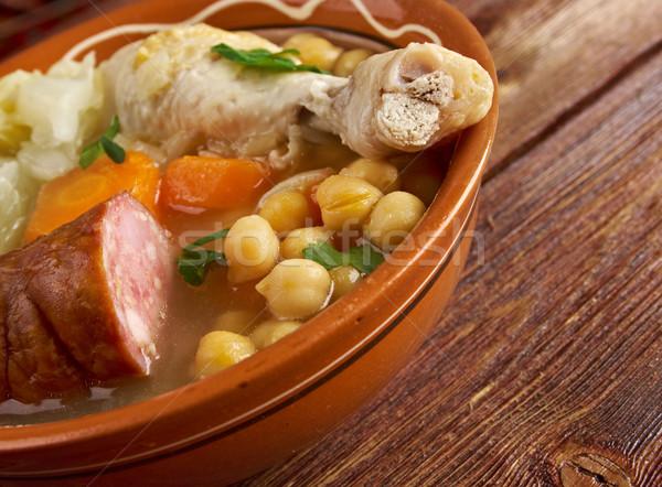 シチュー セントラル 北方 地域 スペイン 鶏 ストックフォト © fanfo