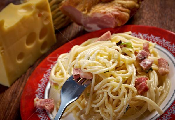 Spaghetti Carbonara  Stock photo © fanfo