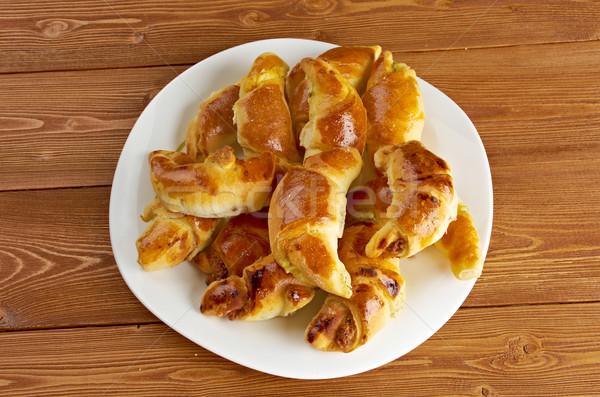 Brânză plăcintă desert Imagine de stoc © fanfo