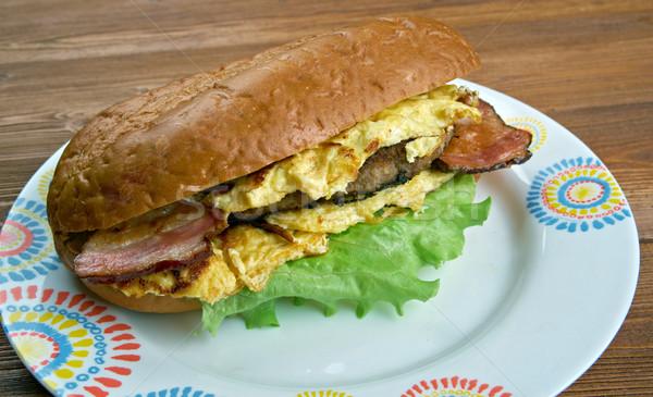 Enormous Omelet Sandwich Stock photo © fanfo