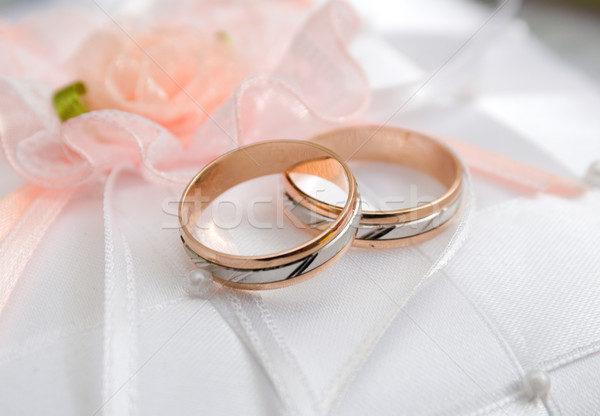 Golden wedding rings. Stock photo © fanfo