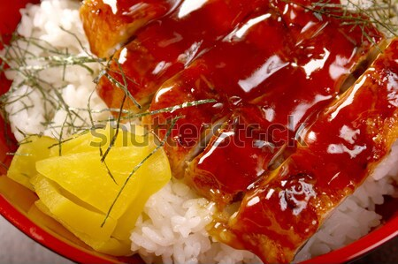 Cibo giapponese anguilla japanese cucina alimentare pesce Foto d'archivio © fanfo