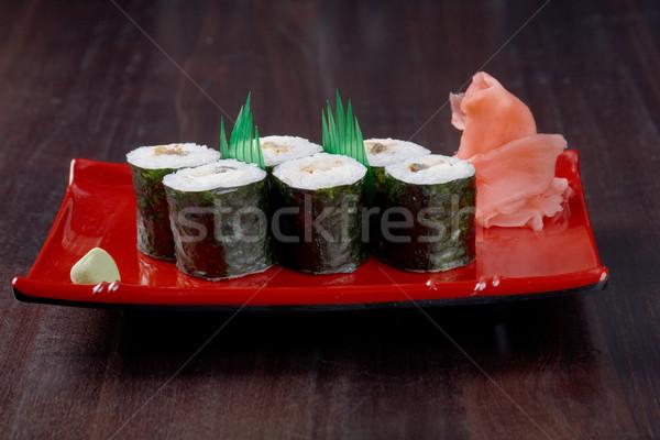 Japanese sushi tradizionale cibo giapponese affumicato pesce Foto d'archivio © fanfo