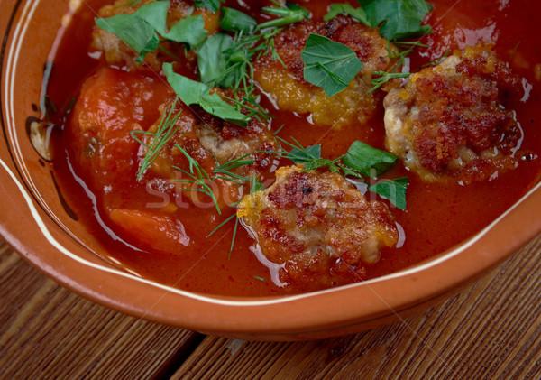 турецкий томатном соусе продовольствие Сток-фото © fanfo