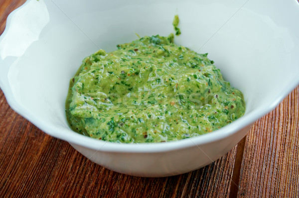 Herbed Champagne Dijon Vinaigrette Stock photo © fanfo