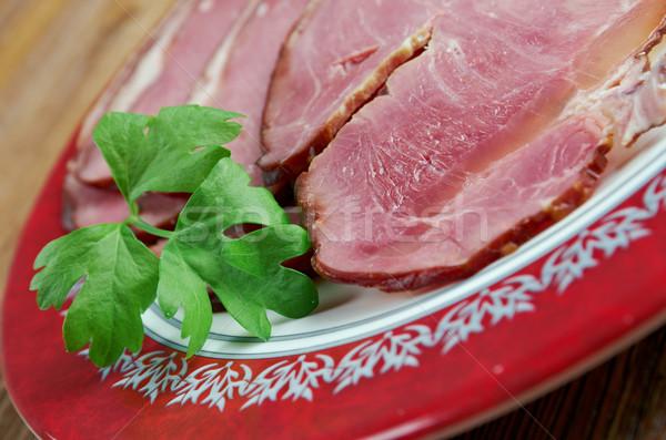 Stock fotó: Hús · hagyományos · ünnepi · étel · Izland · felszolgált