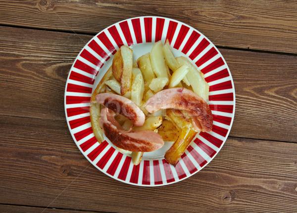 Fast-food yemek sokak gıda sığır eti sosis Stok fotoğraf © fanfo