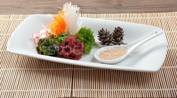 Insalata alghe alimentare piatto piatto Foto d'archivio © fanfo