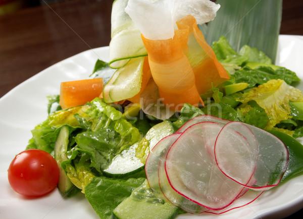 Egészséges zöldség saláta étel zöld vacsora Stock fotó © fanfo