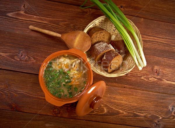 Russian sauerkraut soup stchi  Stock photo © fanfo