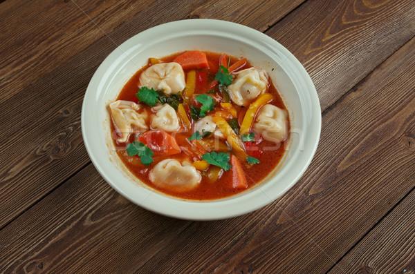 Tortellini Minestrone Soup Stock photo © fanfo