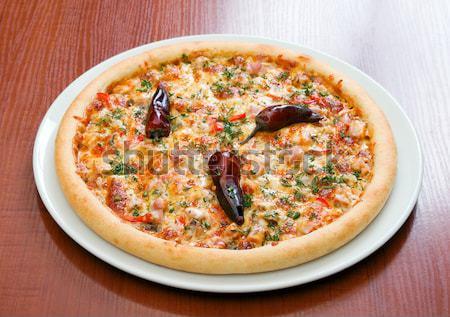 Pizza Italiaans keuken studio restaurant diner Stockfoto © fanfo