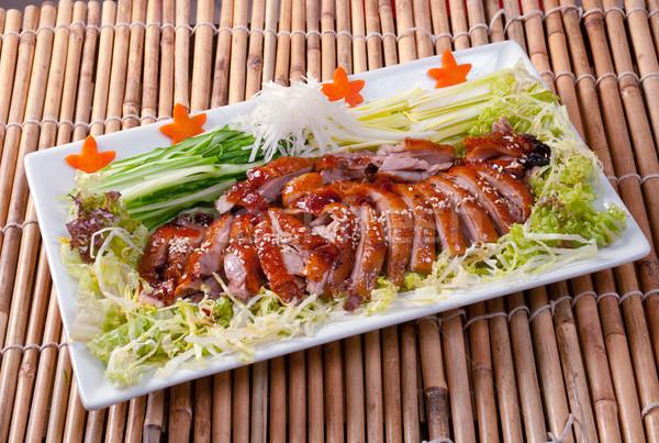 Stock fotó: Pörkölt · kacsa · kínai · stílus · közelkép · étel