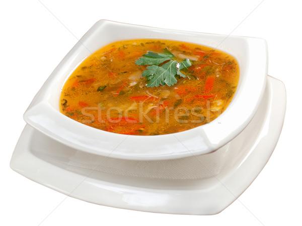 Zupa jarzynowa włoski żywności restauracji jedzenie łyżka Zdjęcia stock © fanfo