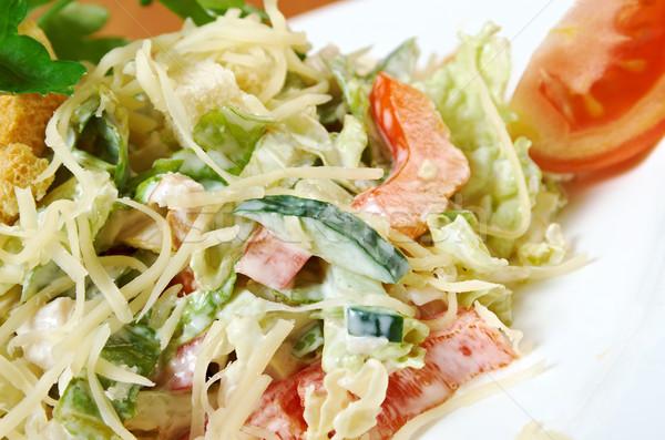 Hazır klasik gıda plaka salata Stok fotoğraf © fanfo