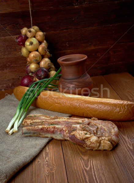 delicious Jerk  pork belly Stock photo © fanfo