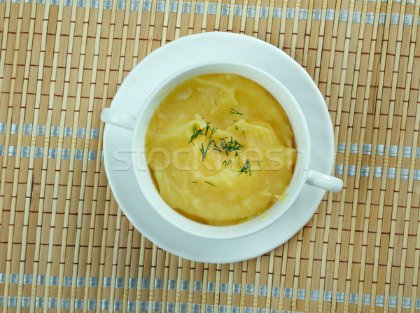 Stock photo: Crema de garbanzos