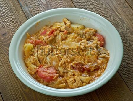 Stock fotó: Disznóhús · szelet · étel · piros · saláta · zöldségek