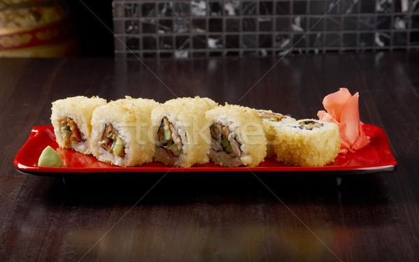 Японский суши традиционный японская еда копченый рыбы Сток-фото © fanfo