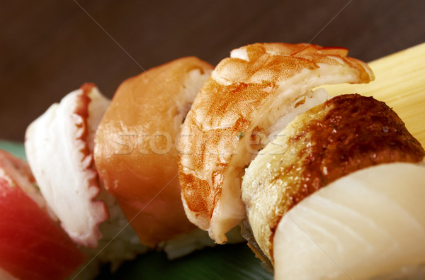 Japanese sushi  traditional japanese food Stock photo © fanfo