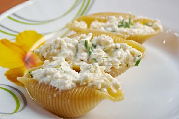 Stok fotoğraf: Doldurulmuş · peynir · tavuk · çiftlik · makarna · tatil