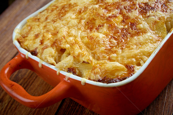 Pastitsio -  a Greek and Mediterranean baked pasta  Stock photo © fanfo