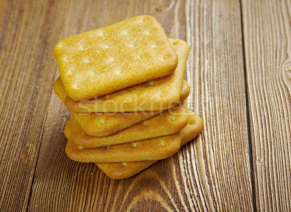 crackers on  wood table Stock photo © fanfo
