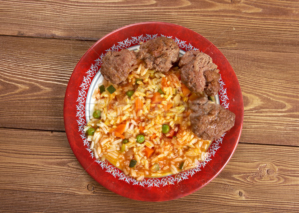 Jollof rice Stock photo © fanfo