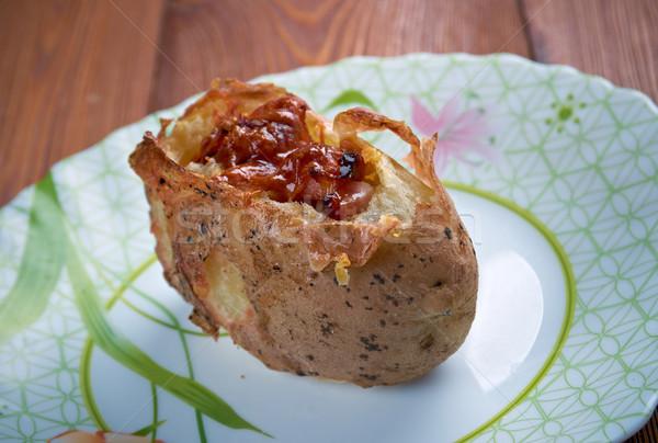 patate ripiene al forno Stock photo © fanfo