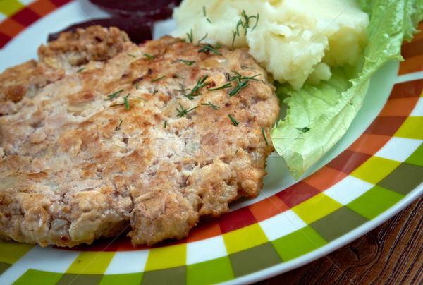 伝統的な 皿 類似した 味 一貫性 ストックフォト © fanfo