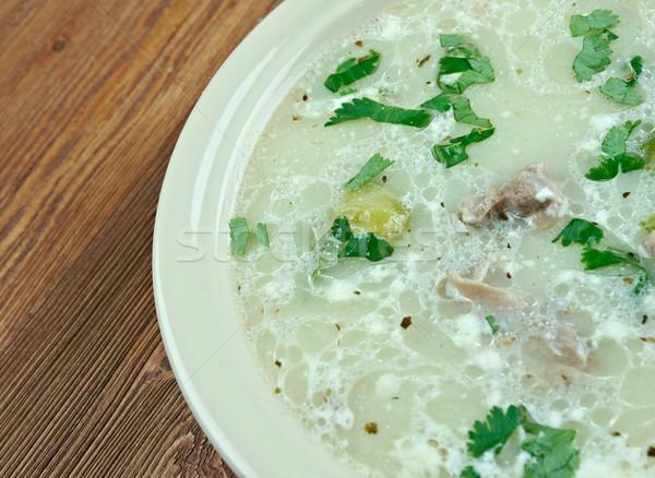 Chicken Asparagus Chowder Stock photo © fanfo