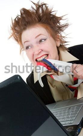 депрессия деловая женщина самоубийства галстук бизнеса служба Сток-фото © fanfo