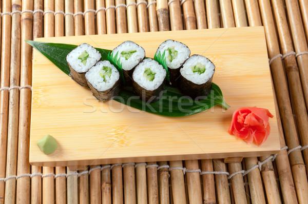 Сток-фото: Японский · суши · традиционный · копченый · рыбы