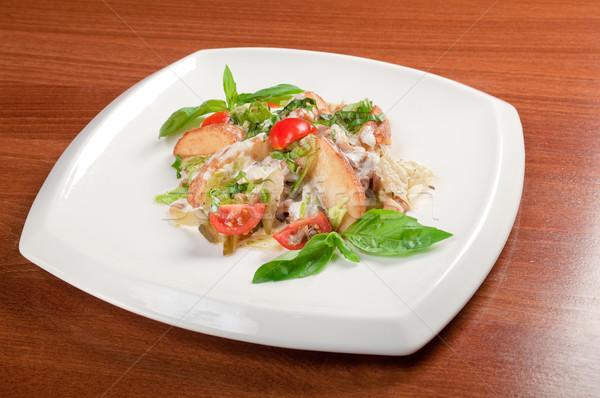 Tavuk salatası İtalyan mutfağı gıda kahvaltı salata sebze Stok fotoğraf © fanfo