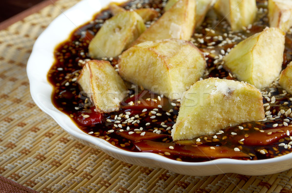 eggplants soya sauce.chinese cuisine Stock photo © fanfo